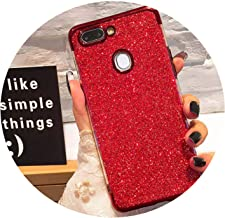 Glitter Bling Phone Cases for Huawei Mate 20 Lite X P Smart 2019 Plating Soft TPU Case on Honor 8X 7A 7C 10 9 P30 P20 Pro Lite,Red,Honor 7C 5.99 inch