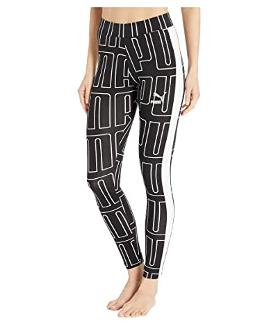 PUMA All Over Print Leggings (PUMA Black) Women