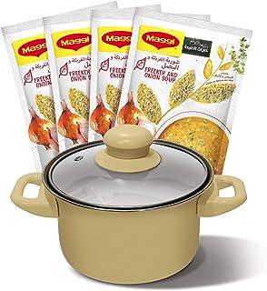 Maggi Freekeh And Onion Soup, Supergrains, 4 x 75 gm
