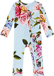Baby Rompers Pajamas - Newborn Sleepers Girl Clothes - Kids One Piece PJ - Soft Viscose from Bamboo