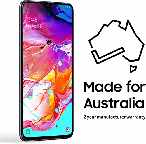 Samsung Galaxy A70 128GB Smartphone (Australian Version) with 2 Year Manufacturer Warranty, Black