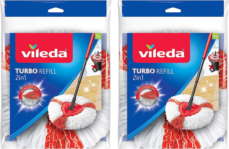 Vileda Turbo 2-in-1 Microfibre Mop Refill c 16.5 Max 76% OFF 22 Head 30 x Soldering
