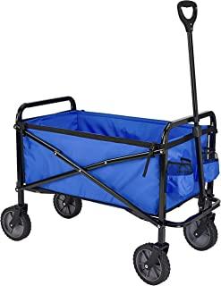 AmazonBasics - Carreta plegable para jardín y aire libre con bolsa de cubierta, azul
