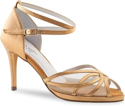 Anna Kern Femmes Chaussures de Danse 950-80 - Satin Bronze - 8 cm - Plateau