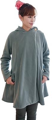 NuKME(ヌックミィ) 袖つきマイクロファイバー毛布 アクティブスタイル ゆったりフレア グレー