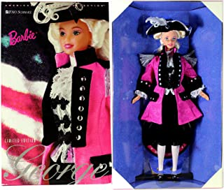 Mattel Year 1996 Barbie FAO Schwarz Exclusive Limited Edition American Beauties Collection Series 12 Inch Doll - Barbie as George Washington with Jacket, Jabot, Vest, Knickers, Socks, Hat, Hair Ribbon, Shoes and Doll Stand
