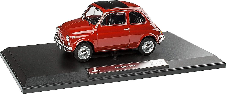 FIAT 500L Nuova Urmodell Corallo Rot 1957-1977 1//18 Norev Modell Auto mit individiuellem Wunschkennzeichen