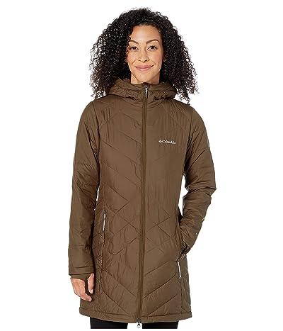Columbia Heavenly Long Hooded Jacket (Olive Green) Women
