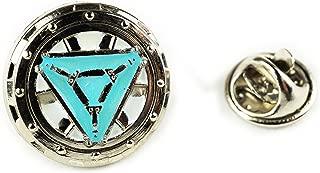 Iron Man Vibranium Reactor Arc Glow Tie Bar Hat Jacket Vest LAPEL PIN