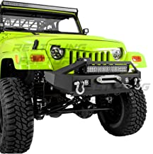 Restyling Factory 97-06 Jeep Wrangler TJ Rock Crawler Front Bumper with Winch Mount Plate, Built-In 21