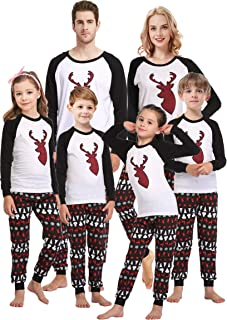Matching Family Christmas Pajamas Boys Girls Deer Pjs...