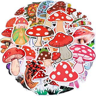 witchy stickers black and white mushroom stickers funghi stickers matt vinyl sticker vinyl decals Toadstool stickers laptop decals