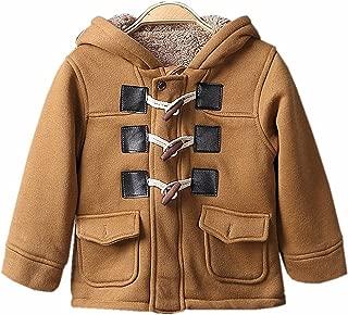 VIVIQ Baby Boys Cotton Fleece Hooded Jacket Outerwear Duffle Coat