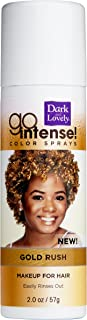 Temporary Hair Color by SoftSheen-Carson Dark and Lovely, Go Intense Color Sprays, Hair Color Spray for Instant and Ultra-vibrant Color even on Dark Hair, For Natural and Relaxed Hair, Gold Rush