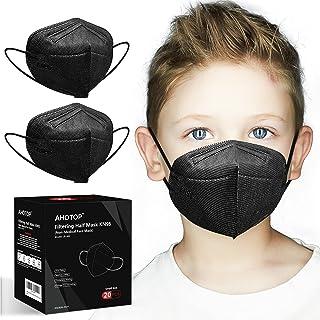 KN95 Mask for Kids, KN95 Face Mask, Individually Wrapped Black KN95 Masks, Kids Masks for Children Girls Boys, 5 Layer Bre...