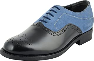 STYLIANO Men's Leather Oxford Shoes