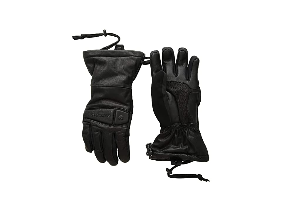 Obermeyer Eclipse Leather Gloves (Black) Over-Mits Gloves