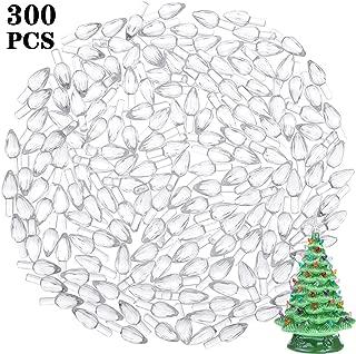 Gejoy 300 Pieces Plastic Ceramic Christmas Tree Bulbs Plastic Light Decorations for Christmas Tree Ornaments, Light Shape (Clear)