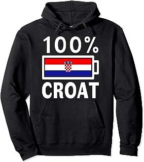 Croatia Flag Hoodie | 100% Croat Battery Power Tee