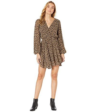 ASTR the Label Raphaela Dress (Taupe Leopard) Women
