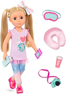 Glitter Girls Dolls by Battat - Percy14 Poseable Fashion Doll with Travel Accessories & Camera - Blonde Hair & Unique Purp...