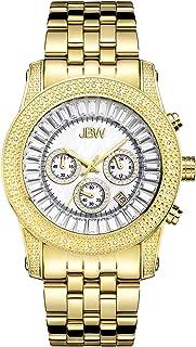 JBW Luxury Men's Krypton 20 Diamonds Baguette Crystals Dial Watch