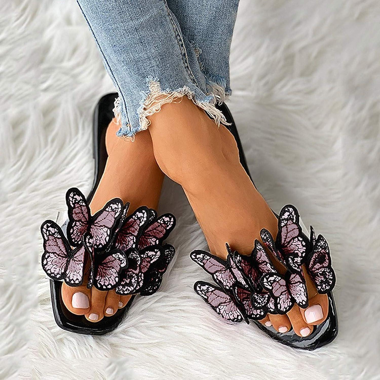 Shakumy Sandals for Women Platform Sandals 2021 Wide Width Flat Slip-On Flip Flop Open Toe Casual Summer Comfy Beach Sandals