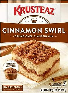 Krusteaz Crumb Cake Mix, Cinnamon Swirl, 21 oz