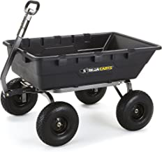 Gorilla Carts GOR10-COM Extra Heavy-Duty Poly Dump Cart with 2-in-1 Convertible Handle,..