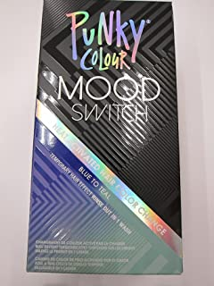 Punky Colour Mood Switch Heat Activated Hair Color Change, Blue to Teal (Pack of 2)