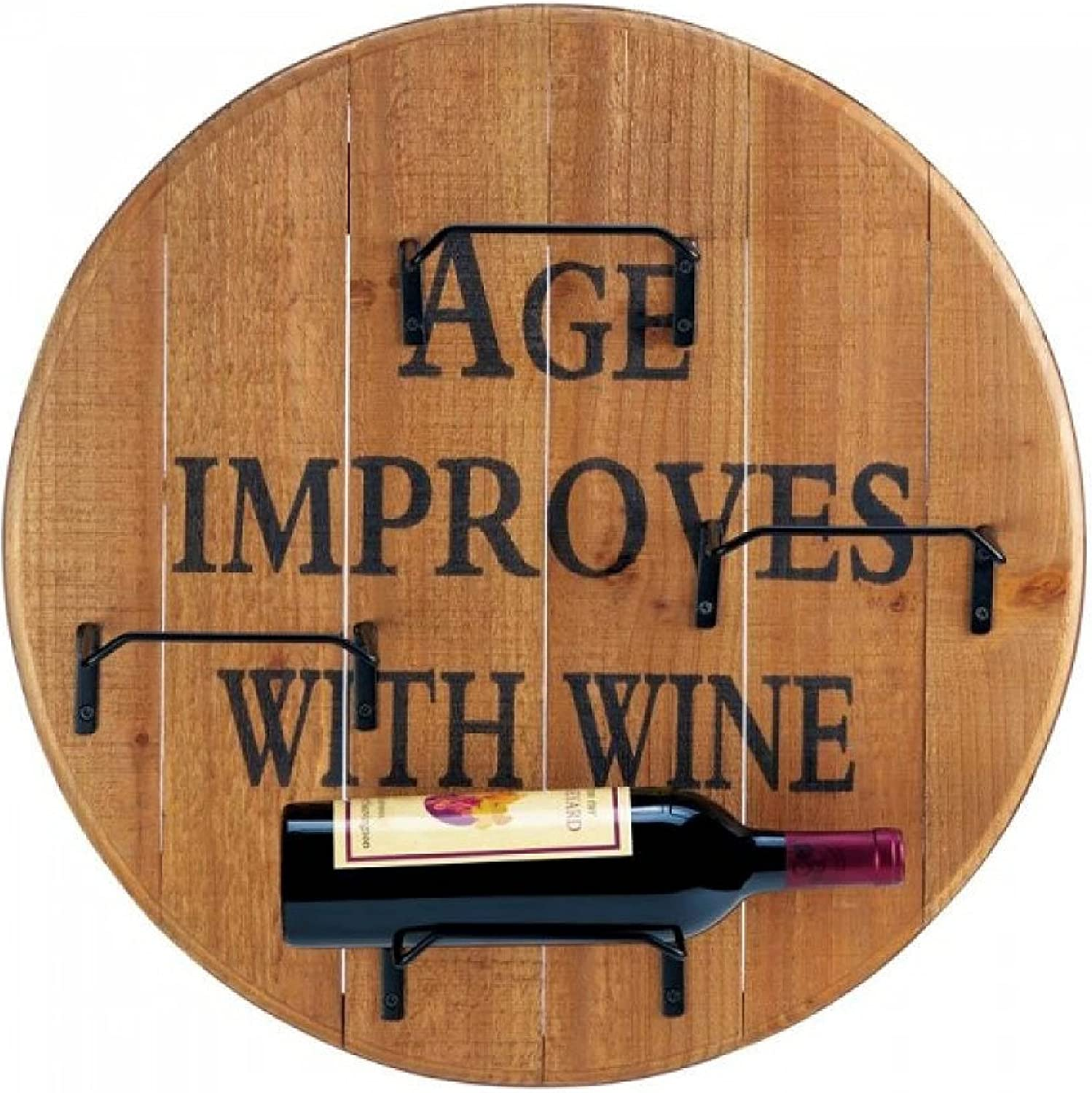 Wine Manufacturer OFFicial shop Accessory Aged Wall Rack Round Latest item
