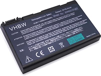 vhbw Akku passend f r Acer Aspire 9814WKMi  9814WKMib  9815WKHib  9815WKMi  9920  9920G Laptop Notebook  Li-Ion  4400mAh  14 8V  65 12Wh  schwarz
