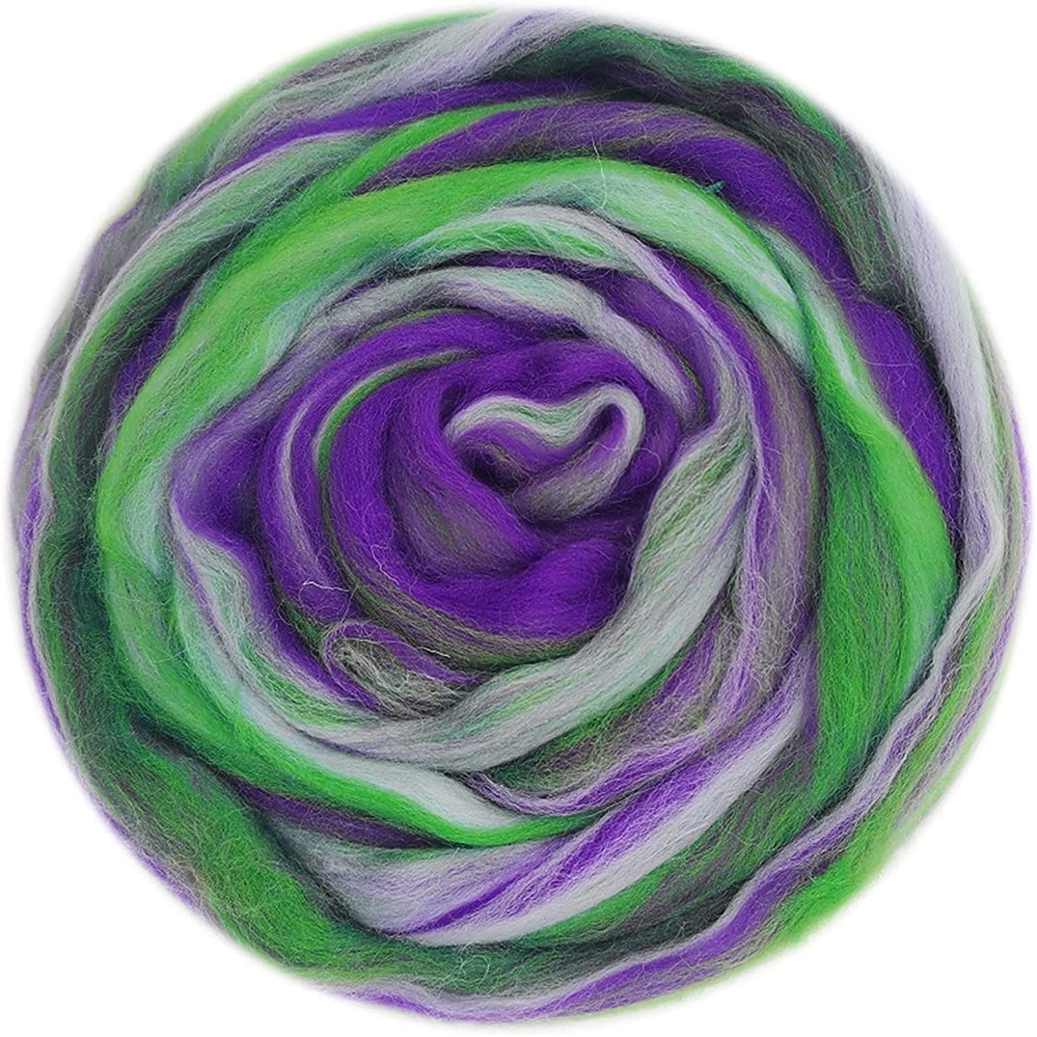 LJLWX Blended Wool roving Roving Mixed Max 80% OFF 50g Han Inexpensive