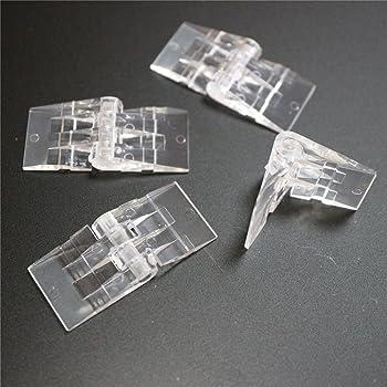 color negro ranura 6 10 x bisagras de pl/ástico mini tipo B no se puede descolgar 20 x 16 mm