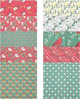 WINOMO 10Pcs Natal Quadrados Quilting Tecido De Algodão Natal Padrões de Patchwork Costura DIY Artesanato Tecido Panos de ...