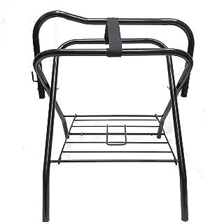 Horse Saddle Rack Stand Folding Storage Metal Black Saddle Tack Stable