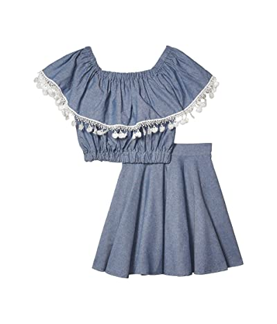 fiveloaves twofish Cali Two-Piece Dress Set (Little Kids/Big Kids) (Denim) Girl
