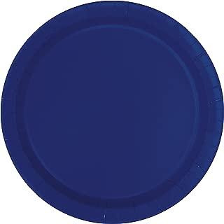 Unique Industries, Paper Plates, 16 Pieces - Navy Blue