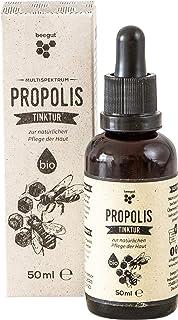 beegut BIO Propolis Tinktur, mit wertvollen Polyphenolen, Propolis aus kontrollierter BIO Imkerei, nachhaltige Verpackung