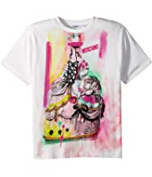 Moschino Kids - Short Sleeve Victorian Graffiti Graphic T-Shirt (Big Kids)
