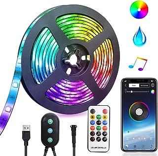 LED Strip Lights USB powered LED Lights Strip Phone App Controlled RGB LED Lights Chase Effect Music LED Strip Rope Lights...