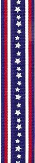 Offray Starry Stripe Craft Ribbon, 1 1/2-Inch x 9-Feet, Blue Star