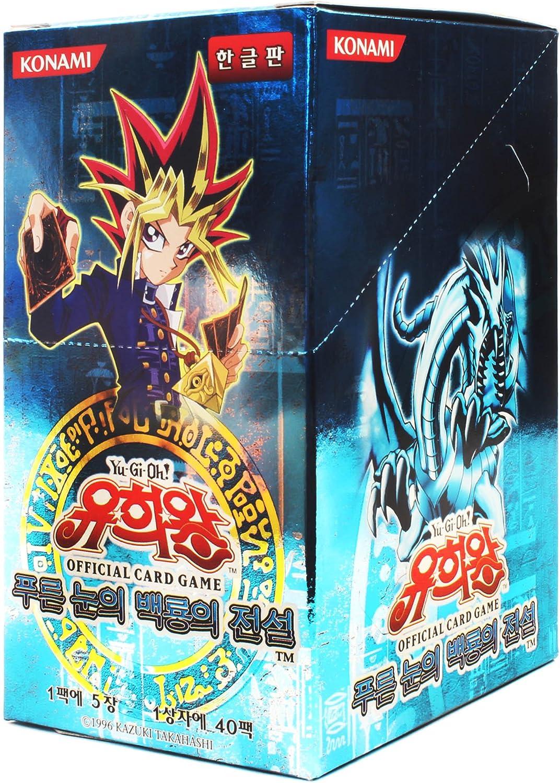 Yu-Gi-Oh! Konami Yugioh Cartas Booster Pack Caja TCG OCG 200 Cartas Leyenda del Dragón Blanco de Ojos Azules Corea Ver
