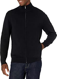 Men's Full-Zip Cotton Sweater