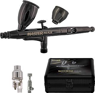 Master Pro Plus Airbrush Set, Model 120 - Elite Level Spray Performance Dual-Action Gravity Feed Airbrush Kit with Case, ...