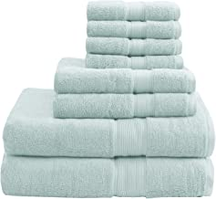 Madison Park Signature 800GSM 100% Cotton Luxury Turkish Bathroom Towel Set Highly Absorbent, Quick Dry, Include 2 for Sho...