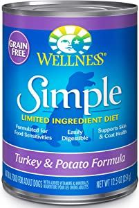 Wellness Simple Natural Grain Free Wet Canned Limited Ingredient Dog Food