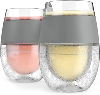 HOST Freeze Cooling Cup, Set of 2 Double Wall Insulated Freezer Chilling Tumbler with Gel, Glasses for Red and White Wine,...