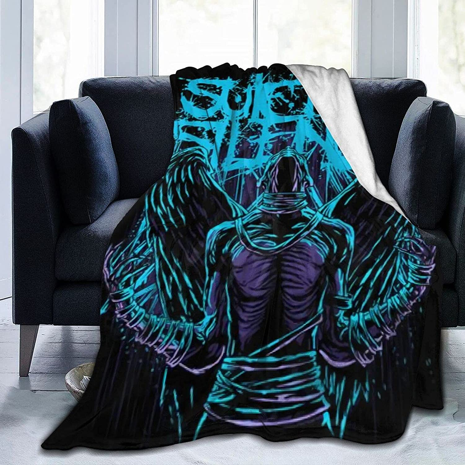 S-UIC-IDE Si-Len-Ce Blanket 3D Recommendation Sale Special Price Printed Blankets Comfy Fuzzy Wool