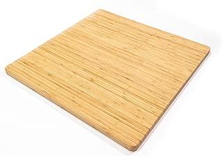 Large Reversible Bamboo Cutting Board (Face Grain Bamboo, 24x24x1)